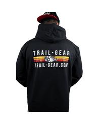Trail-Gear Stripe Logo Hoodies