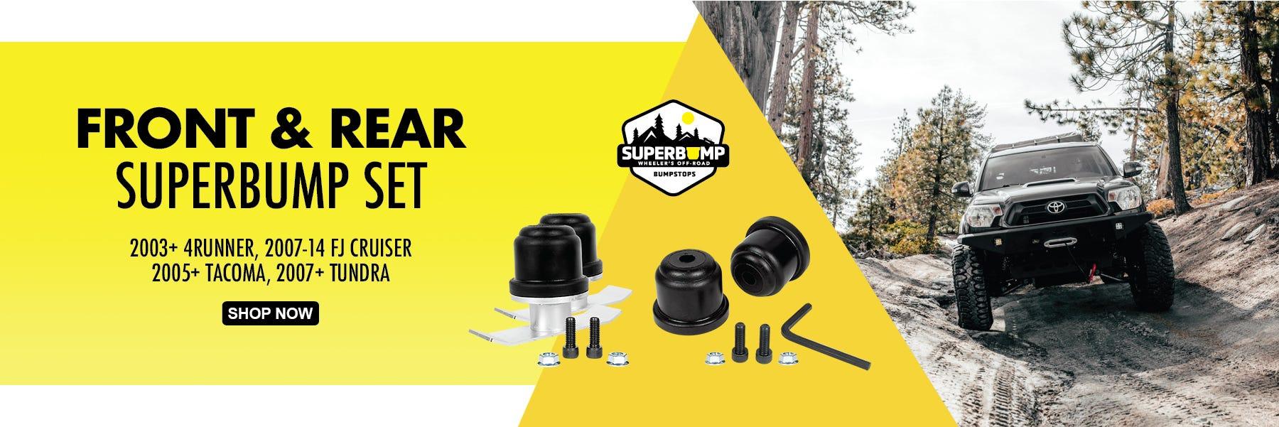 Wheeler's Off-Road SuperBump Front & Rear Bumpstop Kits